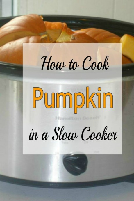 How to cook Pumpkin in a Crock Pot -haphazardhomemaker.com