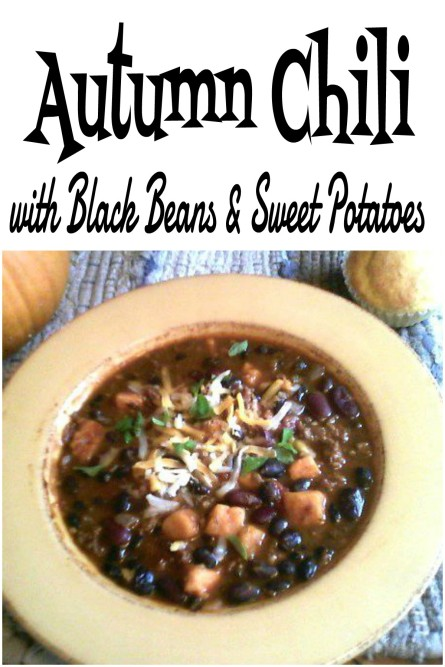 Autumn Chili with Sweet Potatoes - haphazardhomemaker.com
