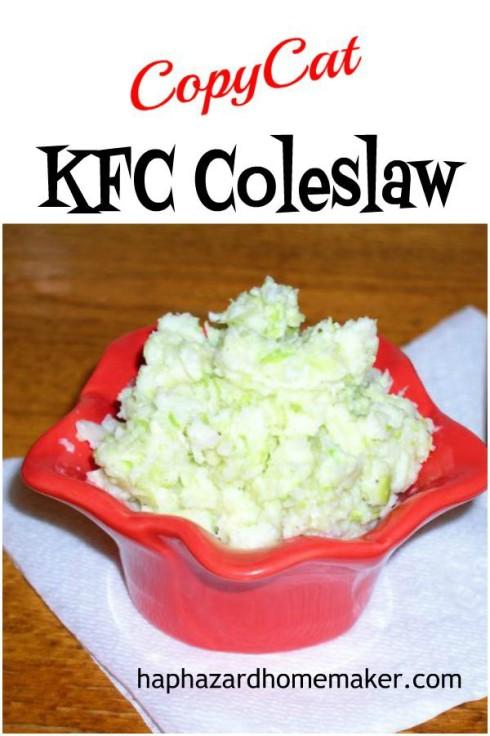 Easy CopyCat KFC Coleslaw - haphazardhomemaker.com