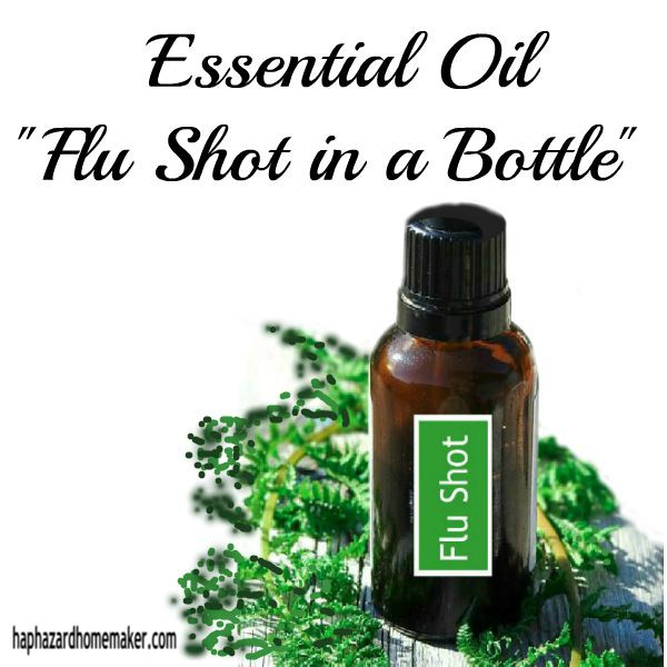 Essential Oil Flu Shot in a Bottle - haphazardhomemaker.com