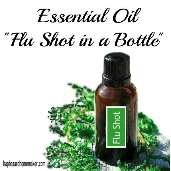 Essential Oil Flu Shot in a Bottle - haphazardhomemaker.com