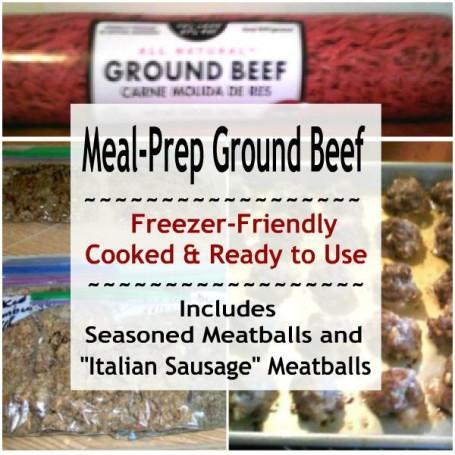 "Freezer-Friendly seasoned Meatballs & ""Italian Sausage"" Meatballs"
