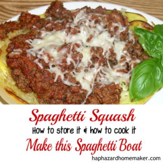 Spaghetti Squash - Make this Spaghetti Boat - haphazardhomemaker.com