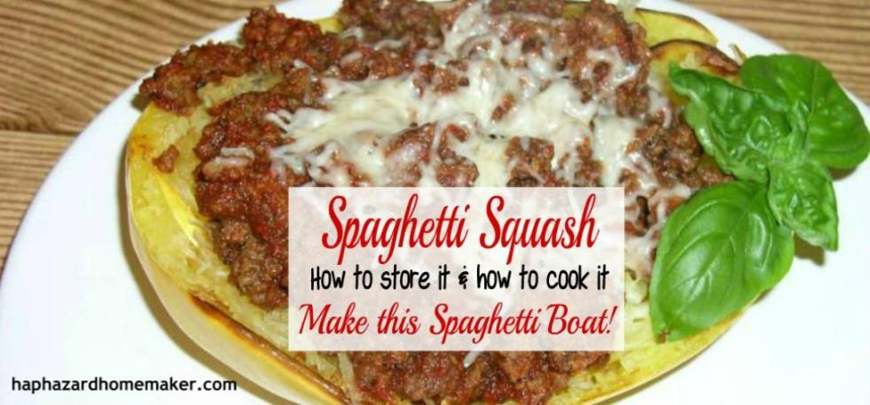 Spaghetti Squash - Make this Spaghetti Boat- haphazardhomemaker.com