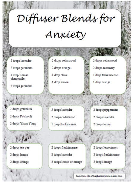 Diffuser Blends for Anxiety - haphazardhomemaker.com