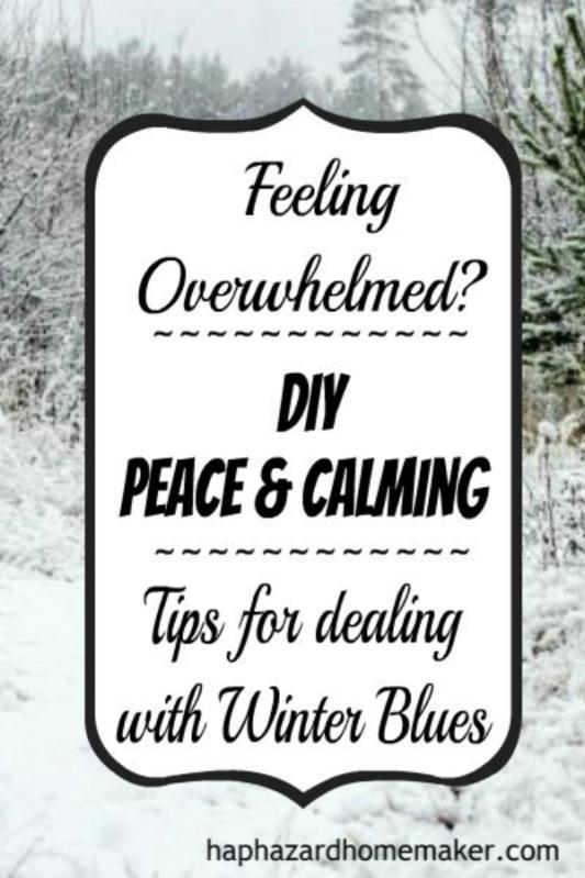"DIY ""Peace & Calming"" Essential Oil Blend Plus Tips for Winter Blues- haphazardhomemaker.com"