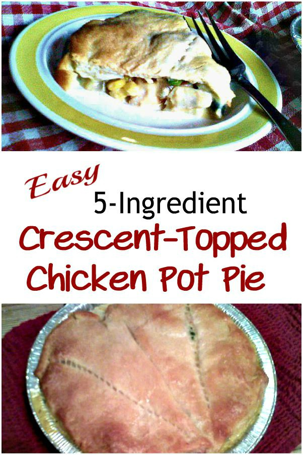 Easy Hearty 5-Ingredient Crescent-Topped Chicken Pot Pie -haphazardhomemaker.com