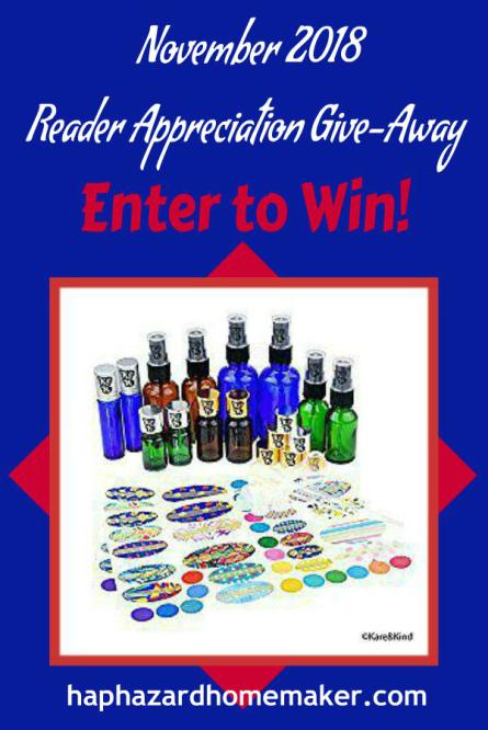 November Reader Appreciation Give-Away Reminder - haphazardhomemaker.com