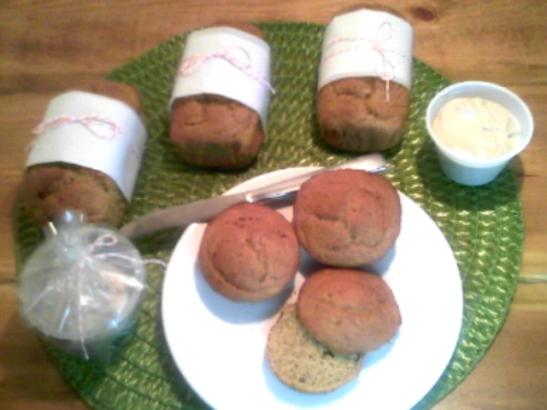 Pumpkin Bread loaves with Maple Cream Cheese - haphazardhomemaker.com