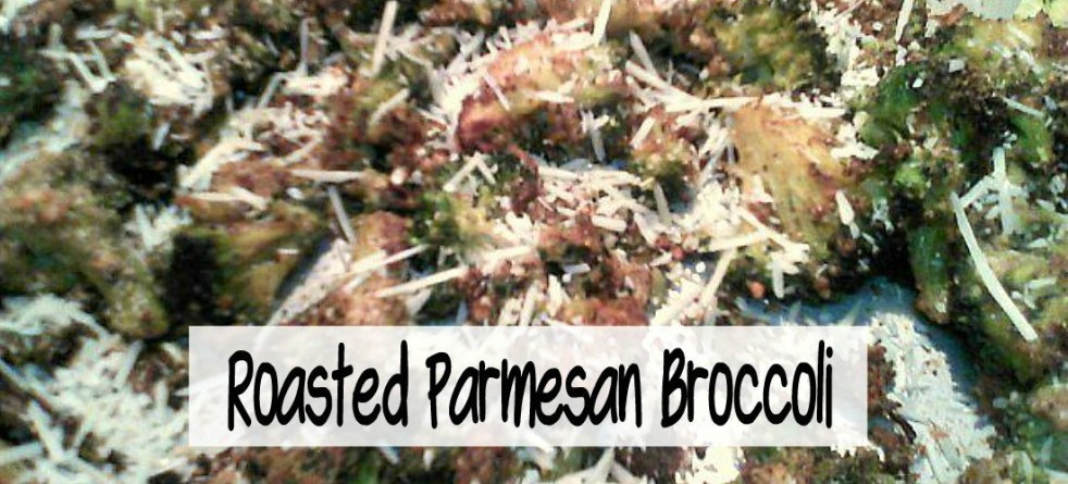 Easy Roasted Garlic Parmesan Broccoli - haphazardhomemaker.com