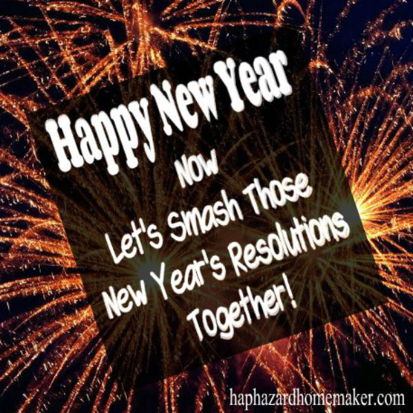 New Year's Resolutions Monthly Challenges- haphazardhomemaker.com