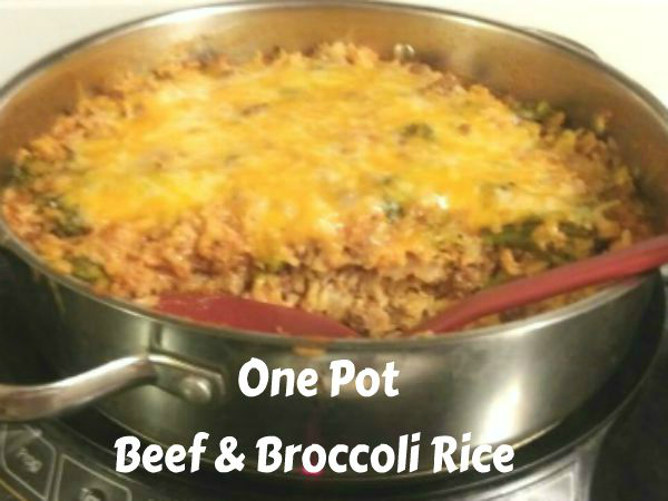 Easy One Pot Beef & Broccoli Rice - haphazardhomemaker.com