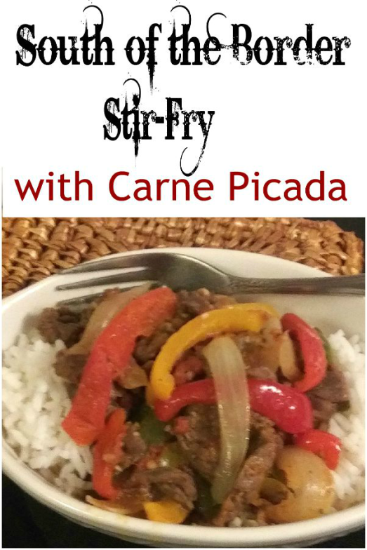 Spanish Stirfry with Carne Picada, Bell Peppers and Onions - haphazardhomemaker.com
