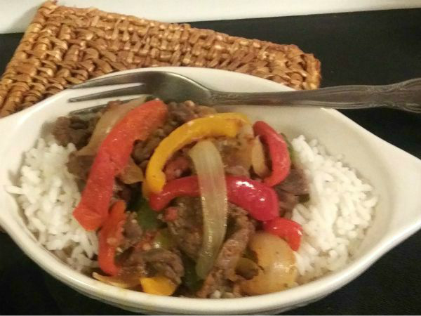 South of the Border Stirfry with Carne Picada - haphazardhomemaker.com
