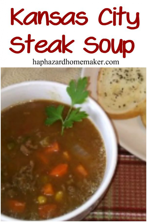 Kansas City Steak Soup - haphazardhomemaker.com