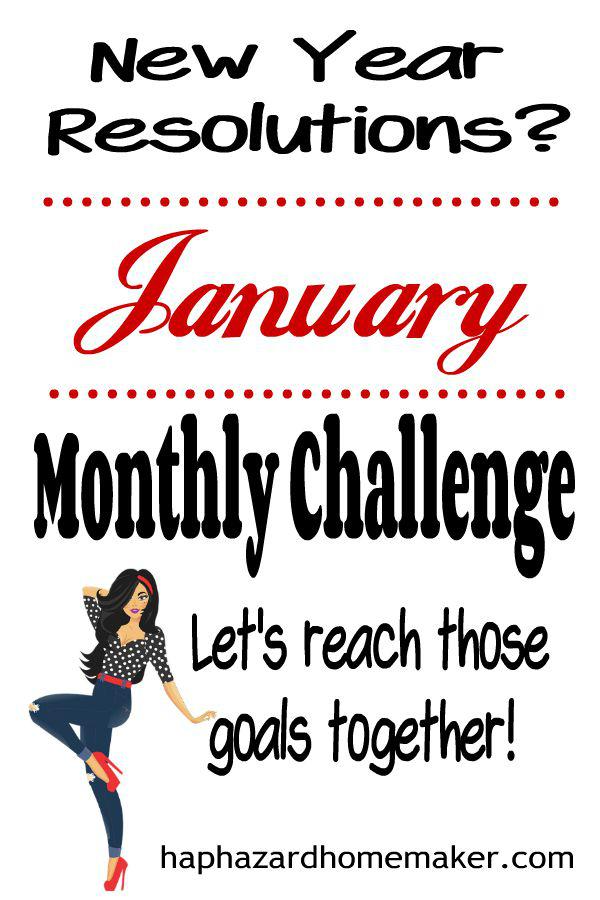 January Resolution Smasher Monthly Challenge - haphazardhomemaker.com