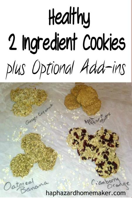 Easy 2 ingredient cookies - haphazardhomemaker.com