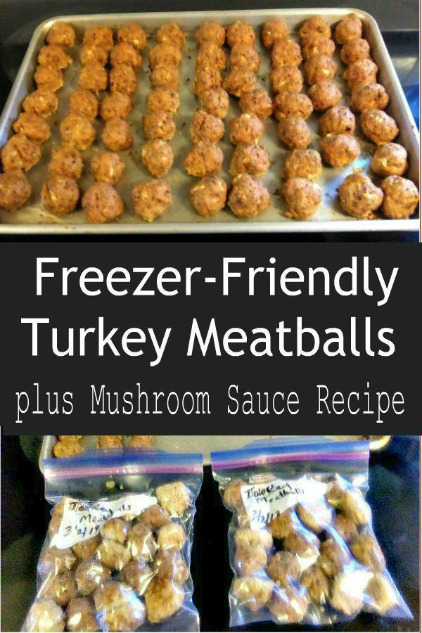Turkey Meatballs with Mushroom Cream Sauce