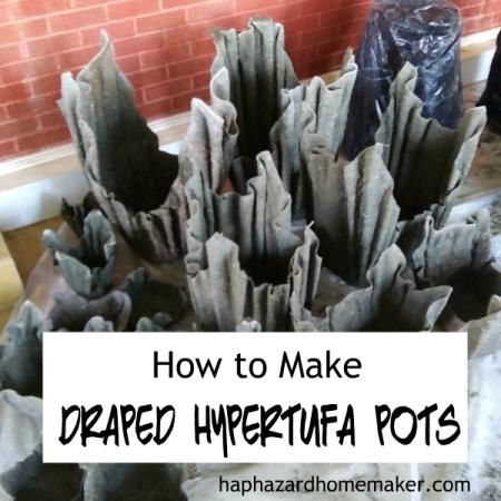 How to Make Cement Fabric Pots- haphazardhomemaker.com