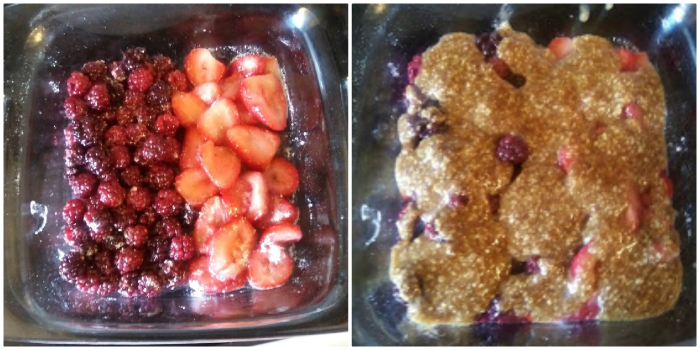 Low Carb Berry Crisp - haphazardhomemaker.com