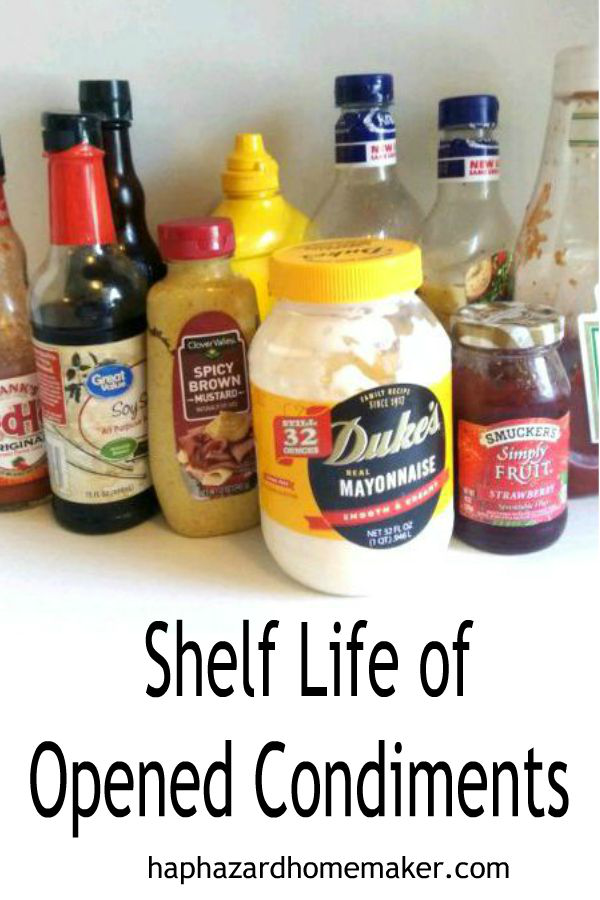 Shelf Life of Opened Condiments - haphazardhomemaker.com