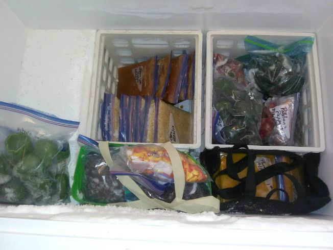 Chest Freezer Organization - Bottom Layer