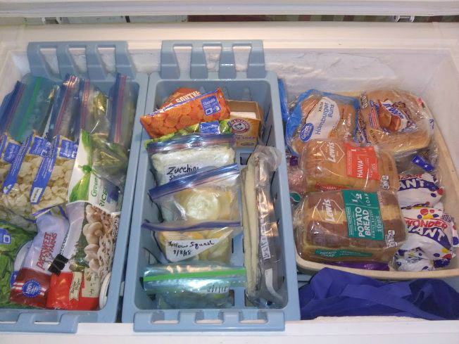 Freezer Organization - Top Layer