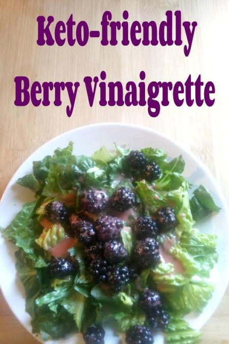 Blackberry Salad with Keto-friendly Berry Vinaigrette Salad Dressing - haphazardhomemaker.com