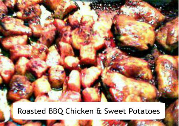 Roasted BBQ Chicken & Sweet Potato Sheet Pan Meal