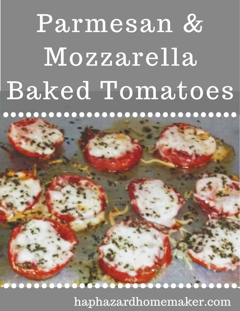 Baked Tomatoes with Cheese on a Sheet Pan - haphazardhomemaker.com