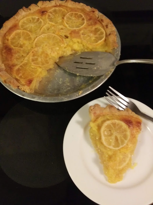 Shaker Lemon Pie with One Crust