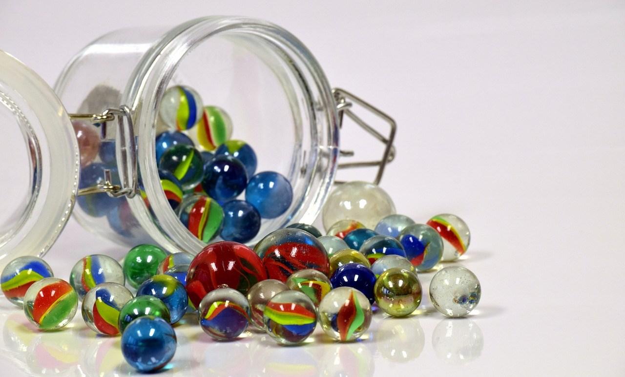 Jar of Spilled Marbles - haphazardhomemaker.com