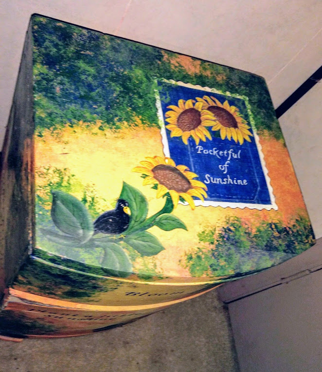 Hand painted Pocket Full of Sunshine Chest - haphazardhomemaker.com