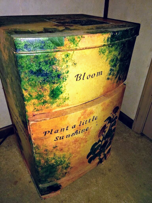 Hand painted Pocket Full Storage Chest - haphazardhomemaker.com