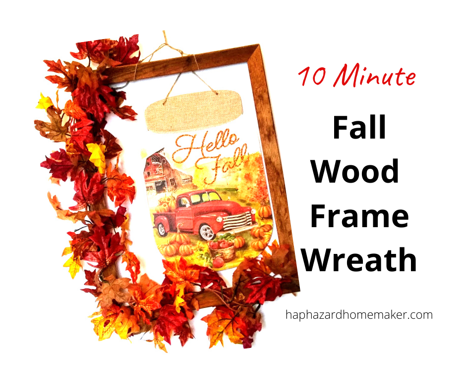 Fall Frame Wreath - haphazardhomeaker.com