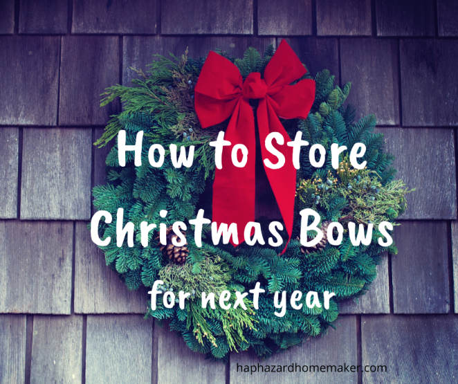 How to Store Christmas Bows for next year