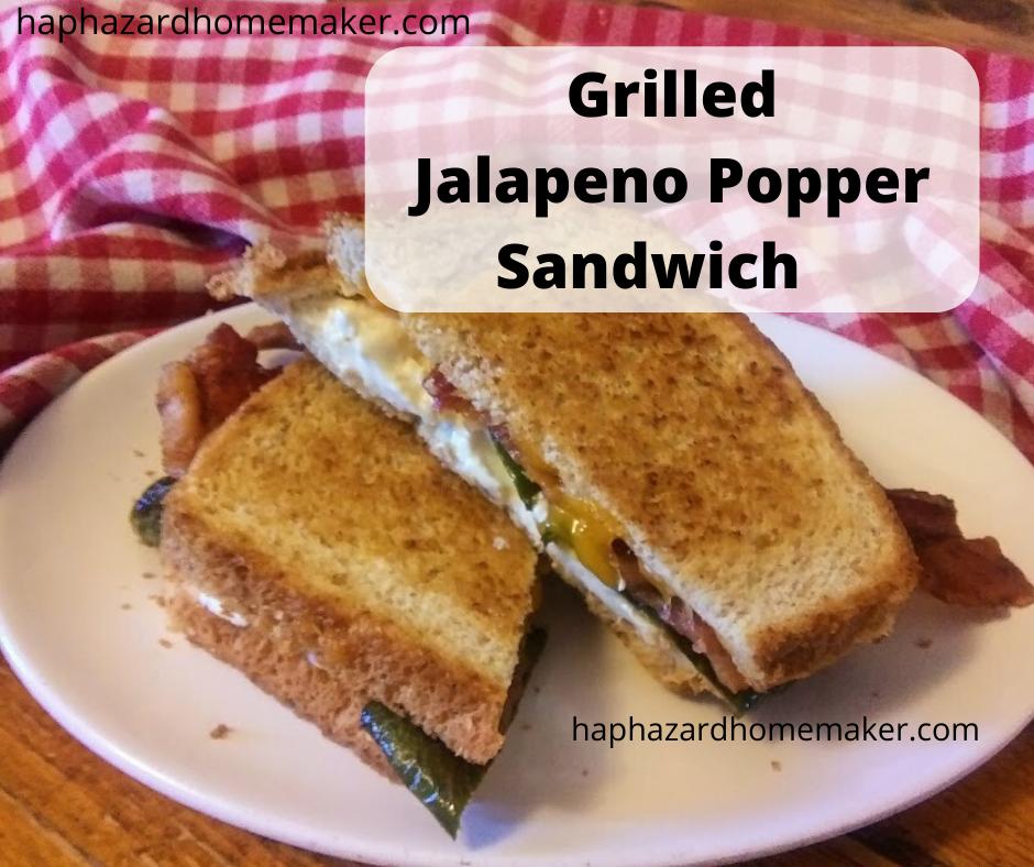 Grilled Jalapeno Popper Sandwich - haphazardhomemaker.com