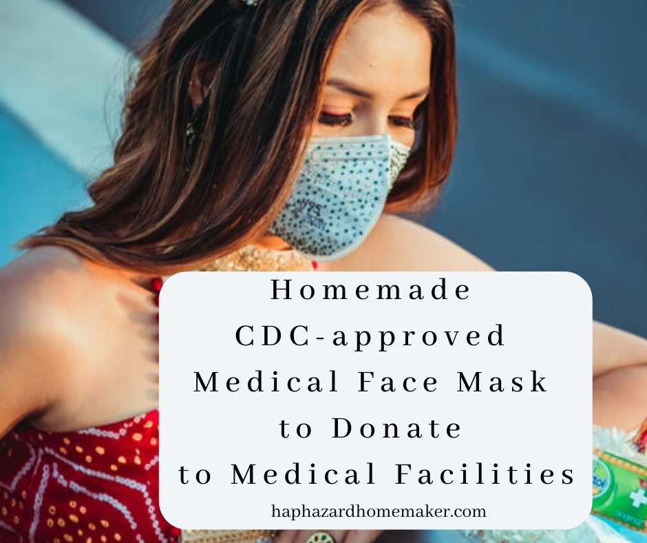 Homemade Cdc Approved Medical Face Mask To Donate To Medical