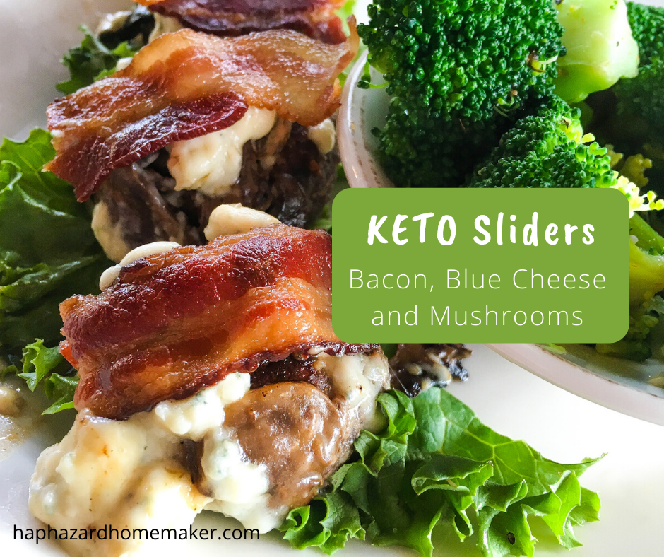Keto Beef Sliders with Bacon, Blue Cheese and Mushrooms